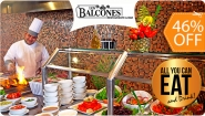 [Imagen:¡Paga $34 en Lugar de $62.50 por Almuerzo o Cena Buffet ALL YOU CAN EAT AND DRINK para 2 con: Cocina Internacional, Parrillada, Barra de Ensaladas, Entremeses, Guarniciones, Postres y Más, Soda, Limonada y Té Helado + 2 Capuchinos o Chocolates!]